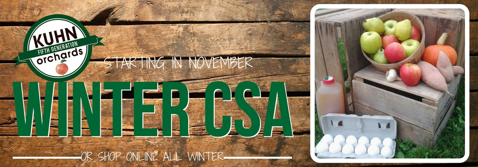Winter CSA website